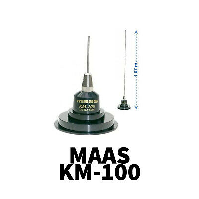 £16.99 • Buy Km 100 Km-100 Magnetic Antenna Aerial Cb Ham Radio Mag Mount Complete With Coax