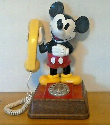 £28.73 • Buy DISNEY  MICKEY MOUSE  Rotary PHONE ( Vintage 1976 )  15  TALL Works!