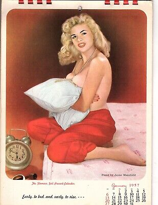 £33.32 • Buy Rare 1957 The Glamour Girl Proverb FULL Calendar  Posed By Jayne Mansfield  (jb
