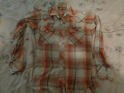 £1.99 • Buy Levi's Mens Vintage Western Shirt Snap Small Check Cotton