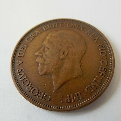 £0.65 • Buy KGV- One Penny (1d) - Great Britain 1936