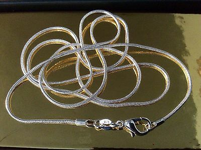 £3.85 • Buy 925 Sterling Silver Snake Chain 🔥 NEW 🔥 30  Extra Long 🔥 + FREE Gift Bag💋