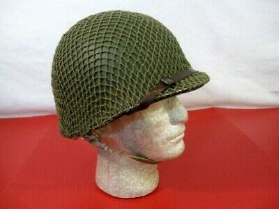 $399.99 • Buy WWII US Army M1 Helmet Steel Pot Fixed Bale Front Seam W/Westhouse Liner - NICE