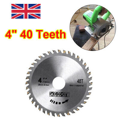 £4.89 • Buy 110mm 4  40 Teeth Circular Saw Blade Fits For Angle Grinder Disc Wood Cutting UK