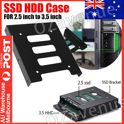 AU7.49 • Buy 1x 5x 2.5 Inch To 3.5 Inch SSD HDD Case Mounting Bracket Adapter Rack Hard Drive