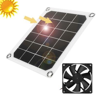 £11.59 • Buy 6V 10W Outdoor Solar Power Panel Exhaust Fan USB Charging For Greenhouse RVs