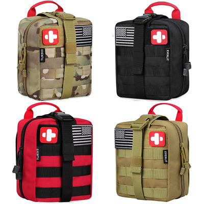 $61.99 • Buy Survival First Aid Kit Emergency Bag Molle Gear Military Trauma 250 Pieces Kit