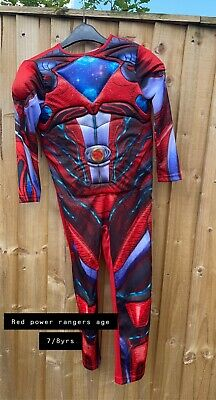 £10 • Buy Power Rangers Dressing Up Costume Red Age 7/8yrs