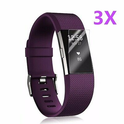 AU6.75 • Buy 3x Anti-Scratch Clear HD Screen Protector Films Shield Guard For Fitbit Charge 2