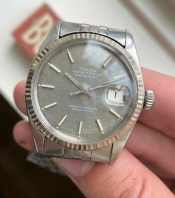 $ CDN7553.09 • Buy Vintage Rolex Datejust 1601 Automatic Rare Brown  Mosaic  Patina Dial Watch