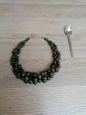 £4.99 • Buy Gorgeous New  Dark Green Statement Beaded Necklace Occasion Wedding Holiday