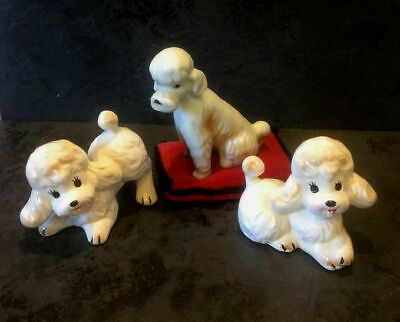 £4.99 • Buy Porcelain Poodle Collectable Collection Of Three