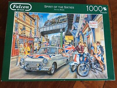 £9.99 • Buy FALCON DE LUXE  1000 PIECE JIGSAW PUZZLE - SPIRIT OF THE 60's. LOVELY ITEM.