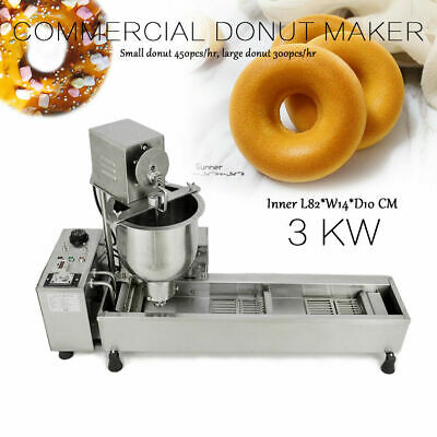 £590 • Buy Used 220V Commercial Automatic Donut Maker Making Machine Wide Oil Tank 3 Molds