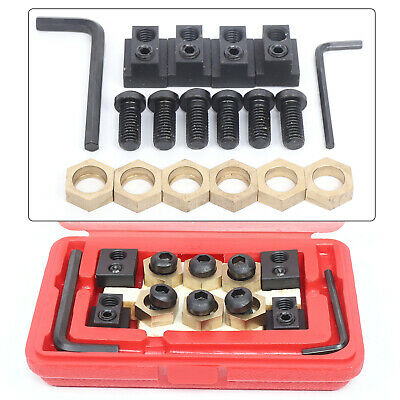 $38.06 • Buy Eccentric 5/8  T-Slot Clamping Set 18pcs Milling Machine Work Table W/4 T-nuts