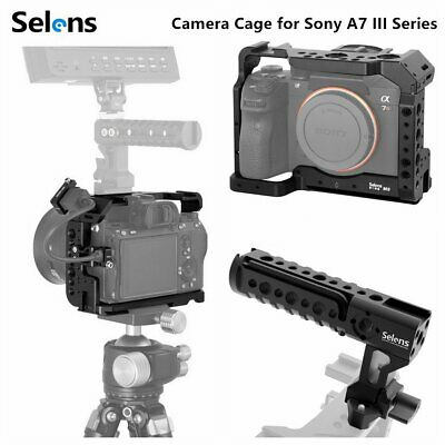 $ CDN45.76 • Buy Pro Camera Cage Rig Video Protective Case Grip For SONY A7RIII/A7M3/A7III Series