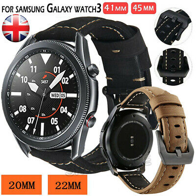 £11.59 • Buy UK Replacement Leather Strap Band For Samsung Galaxy Watch 3 45mm 41mm 42mm 46mm