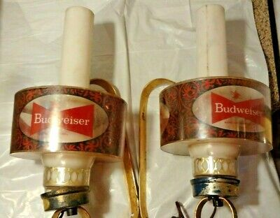 $ CDN117.66 • Buy Pair Of Vintage Budweiser Bar Lights-good Desirable Pieces To Have!!!