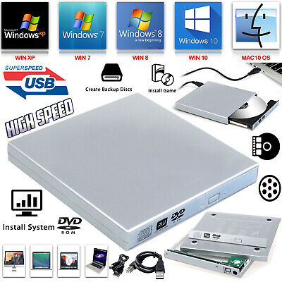 £6.95 • Buy USB To SATA Laptop CD DVD Combo RW Rom Drive External Caddy Enclosure Case Cover