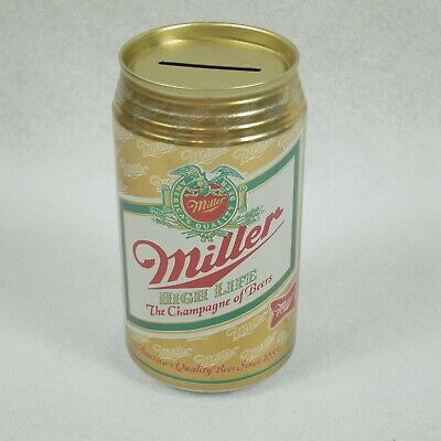 $14.99 • Buy Miller High Life The Champagne Of Beers Flat Top 12oz Can Coin Bank EXCELLENT