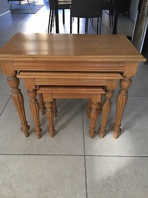 £59 • Buy ANTIQUE PINE NEST OF 3 TABLES - The Main Co., York