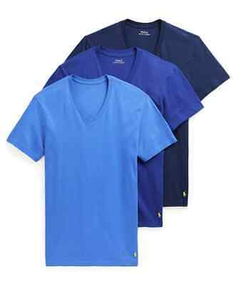 £21.47 • Buy NEW POLO Ralph Lauren M 3-Pack Cotton V-Neck T-shirts Undershirts Classic Fit
