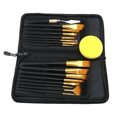 £14.58 • Buy 17pcs Artist Paint Brush Set Watercolour Acrylic Oil Painting With Carry Case