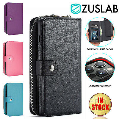 AU19.95 • Buy For IPhone XS Max XR X 8 7 6 Plus SE Case Leather Card Wallet Magnetic Cover