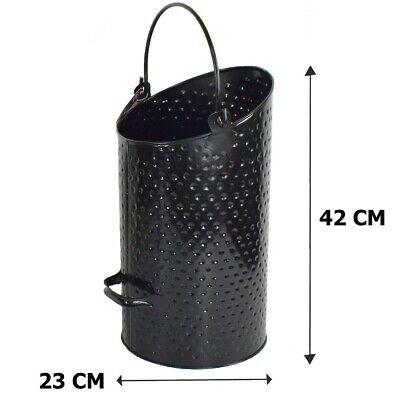 £16.25 • Buy COAL BUCKET SCUTTLE Hammered Eclipse Bucket 42 CM TALL