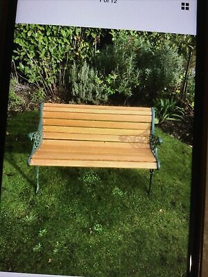 £265 • Buy Cast Iron Bench 2 Seater With Oak  Timber 65 X 20