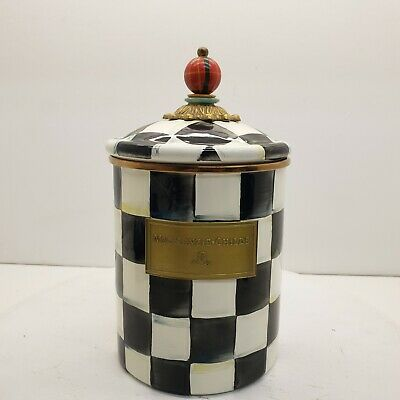 $99.99 • Buy MacKenzie Childs Courtly Check Canister