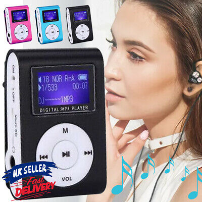 £4.95 • Buy MP3 Player Portable Support Micro SD TF Card LCD Screen Mini With Clip-on Stereo