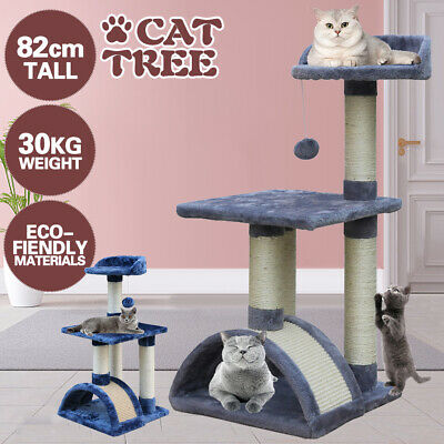 AU32.90 • Buy Cat Tree Trees Scratching Post Scratcher House Furniture Wood Tower Condo