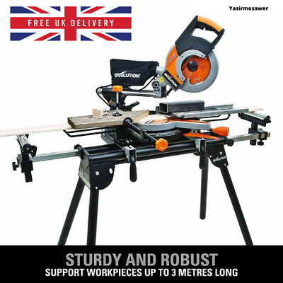 £84.99 • Buy Brand NEW Evolution Mitre Saw Stand Workstation Table Universal Chop With Arms