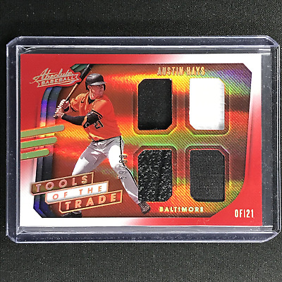 AU19.99 • Buy 2021 Absolute AUSTIN HAYS Tools Of The Trade 4 Swatch Quad Jersey Red 59/99
