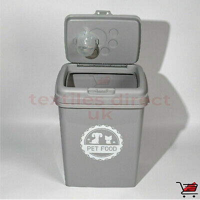 £22.90 • Buy New Grey 40 L Pet Food Dry Feed Container Animal Dog Cat Storage Box Bin & Scoop