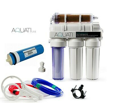 £109.95 • Buy 5 Stage RO & DI Resin Reverse Osmosis Water Filter System Large Membrane 300GPD