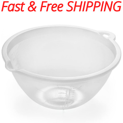 £4.16 • Buy Kitchen Cooking Mixing Bowl 4 Litre Clear Large Sized Food Preparation (1 Pack)