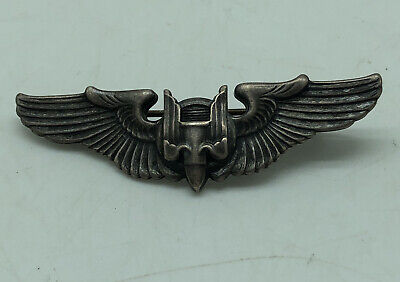 $54.99 • Buy U.S. Military Medal 2 Inch WWII Sterling Silver Bomber Pilot Wings Pin