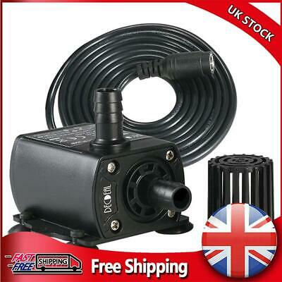 £9.69 • Buy DC 12V Pond Submersible Water Pump Fish Tank Aquarium Outdoor Feature Fountain