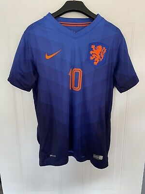 £11 • Buy Nike Holland Blue Away Shirt 2014 World Cup Wesley Sneijder 10 Size 10-12 Years