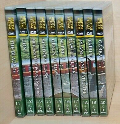 £12.99 • Buy British Steam Railways DVD Collection Numbers 11-20 By DeAgostini