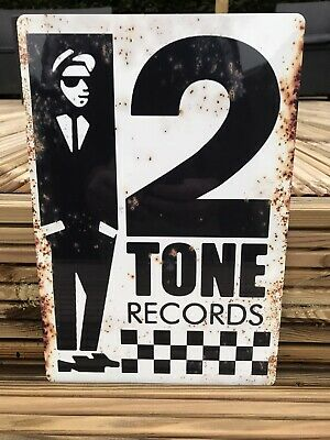 """£12.99 • Buy Two Tone Records Vintage Style Street Sign 11"""" X 7.5"""" SKA"""