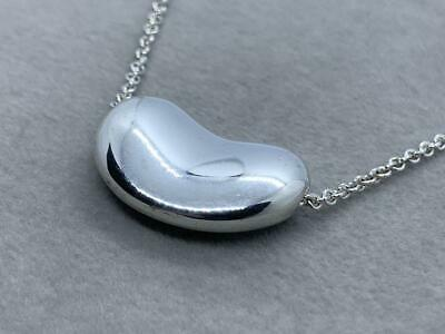 £78.45 • Buy Tiffany & Co. Sterling  Necklace Silver 925 Large Bean