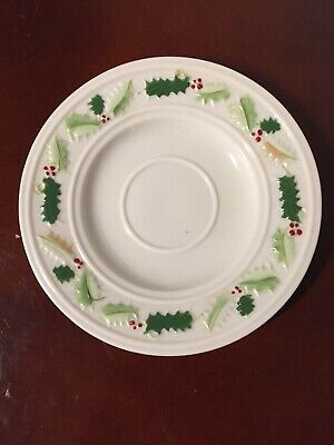 £12.43 • Buy Belleek Pottery (Ireland) Holly Painted Saucer