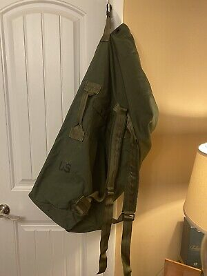 $17 • Buy US Military Army Duffle Sea Bag Duffel OD Nylon Top Load 2 Carry Strasp Large GC