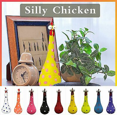 £9.76 • Buy Decorations Indoor Outdoor Ornaments Silly Chicken Decor Yard Art Resin UK