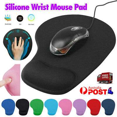 AU7.13 • Buy Game Mouse Pat Silicone Soft Mouse Pad With Wrist Rest Support Mat For Gaming PC