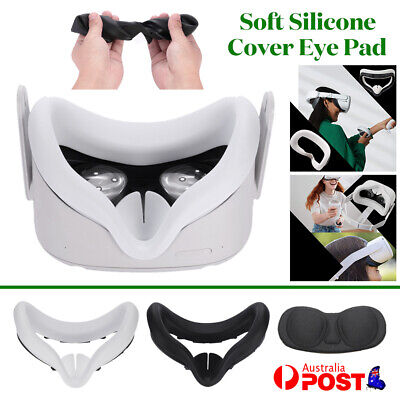 AU13.29 • Buy Soft Silicone For Oculus Quest 2 VR Headset Front Face Cushion Cover Eye Pad
