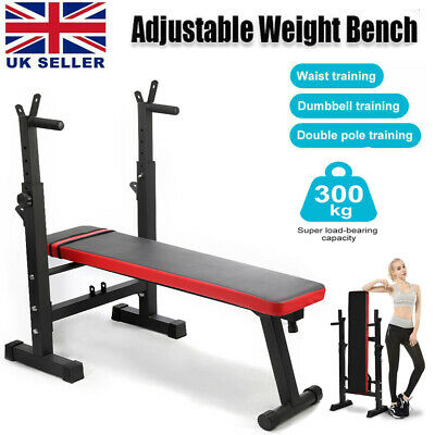 £66.99 • Buy Heavy Duty Folding Adjustable Sit Up Weight Bench Barbell Dip Station Lifting